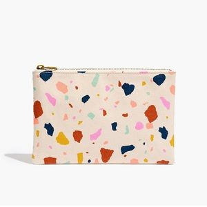 Madewell The Canvas Pouch Clutch in Terrazo